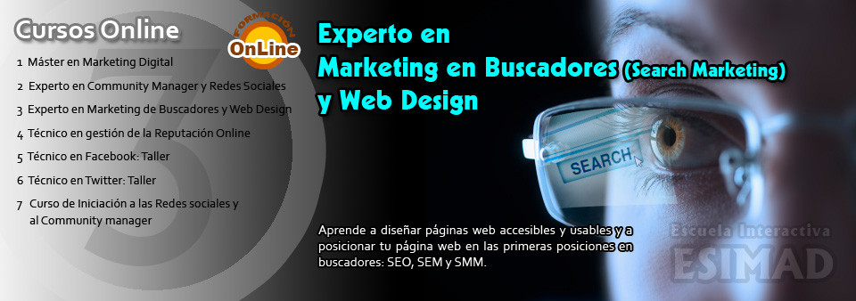 Experto en Marketing en Buscadores (search marketing) y Web Design