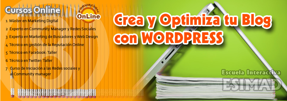 Crea y optimiza tu Blog con WordPress