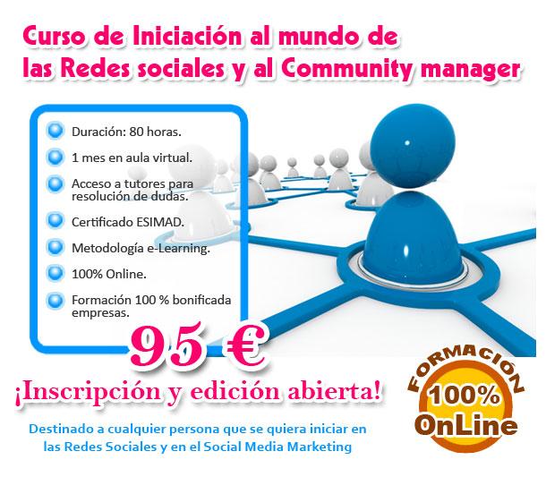 Curso de iniciación a las redes sociales y al community manager