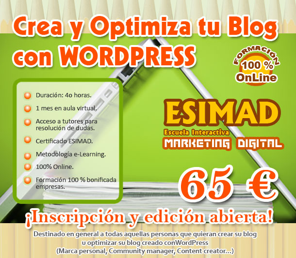 Curso Crea y optimiza tu Blog con Wordpress