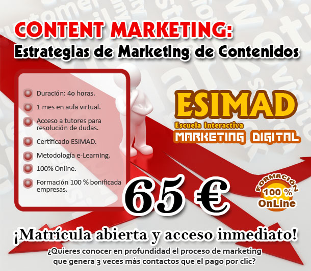 Curso Content Marketing: estrategias de marketing de contenidos