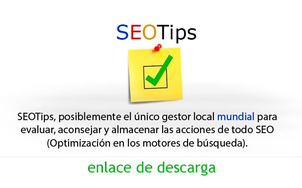 SEOTips Herramienta de gestión para el posicionamiento en buscadores